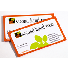 Second Hand Rose - Business Cards