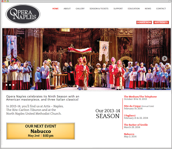 Opera-Naples Website