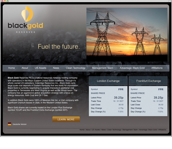 Blackgold Website